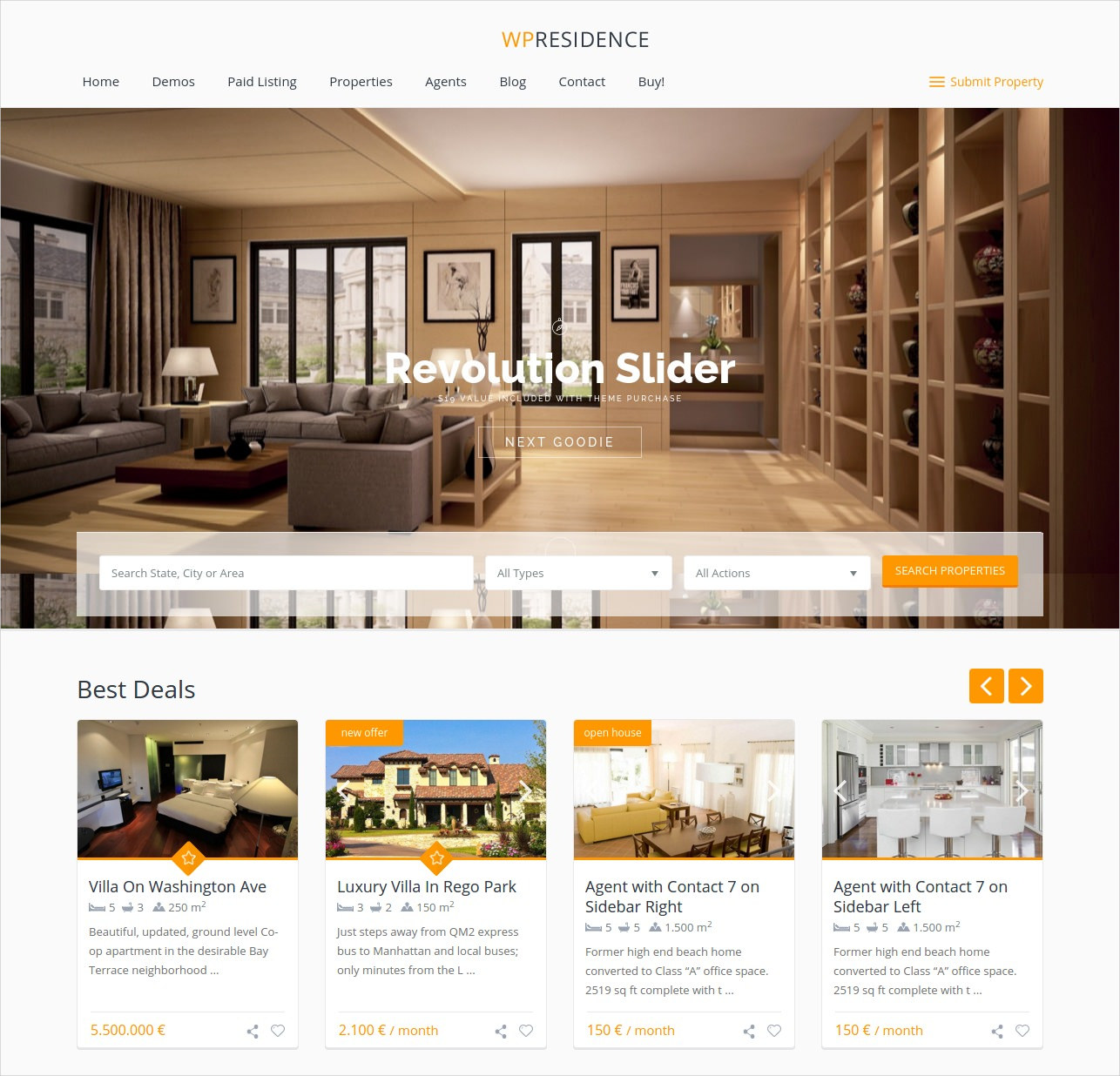 professional wordpress theme choice for real estate