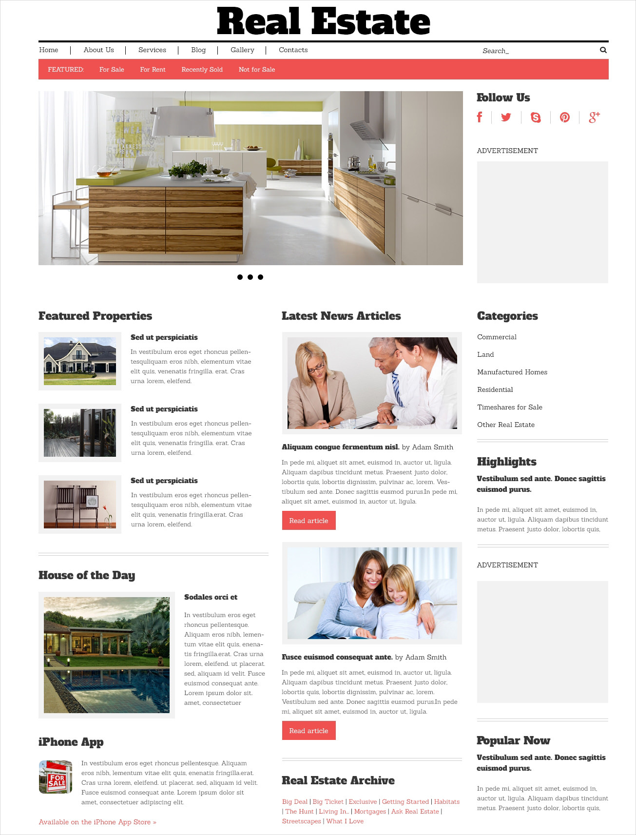 real estate agency template