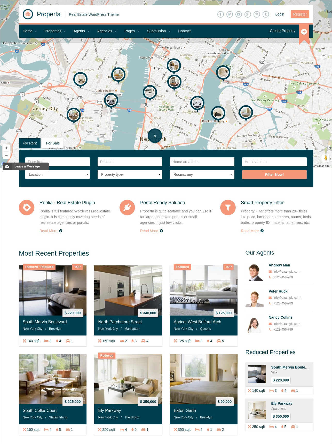 real estate wordpress directory theme