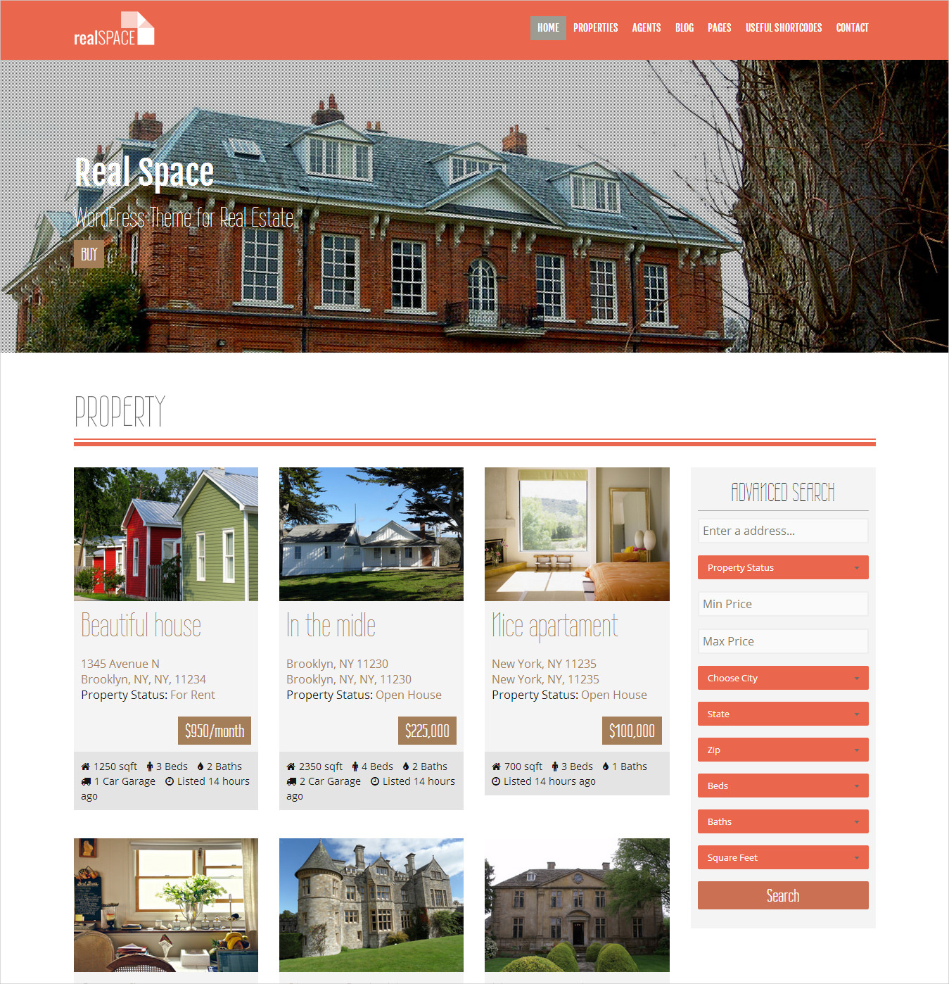 real estate wordpress responsive parallax theme