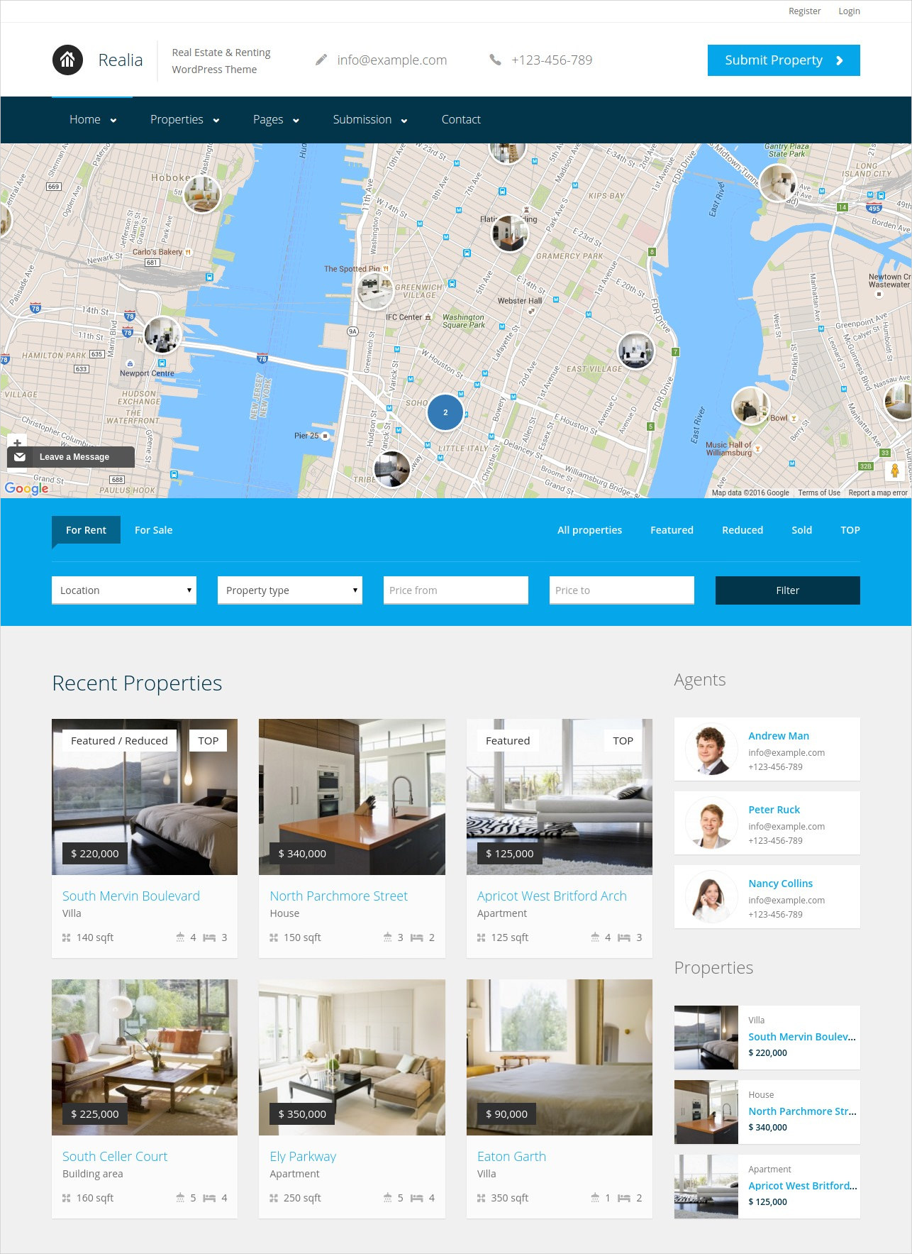 responsive real estate directory wordpress theme