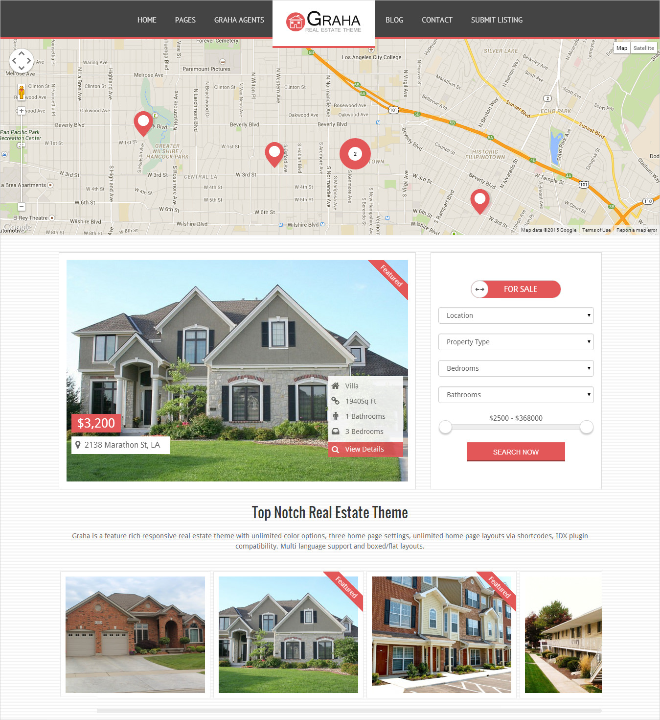 top notch real estate wordpress theme