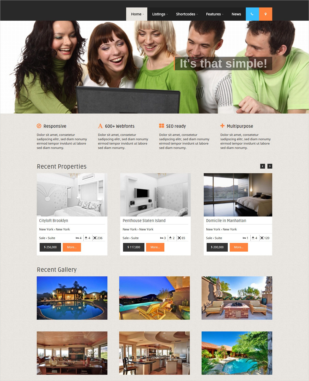 wordpress theme for real estate agencies