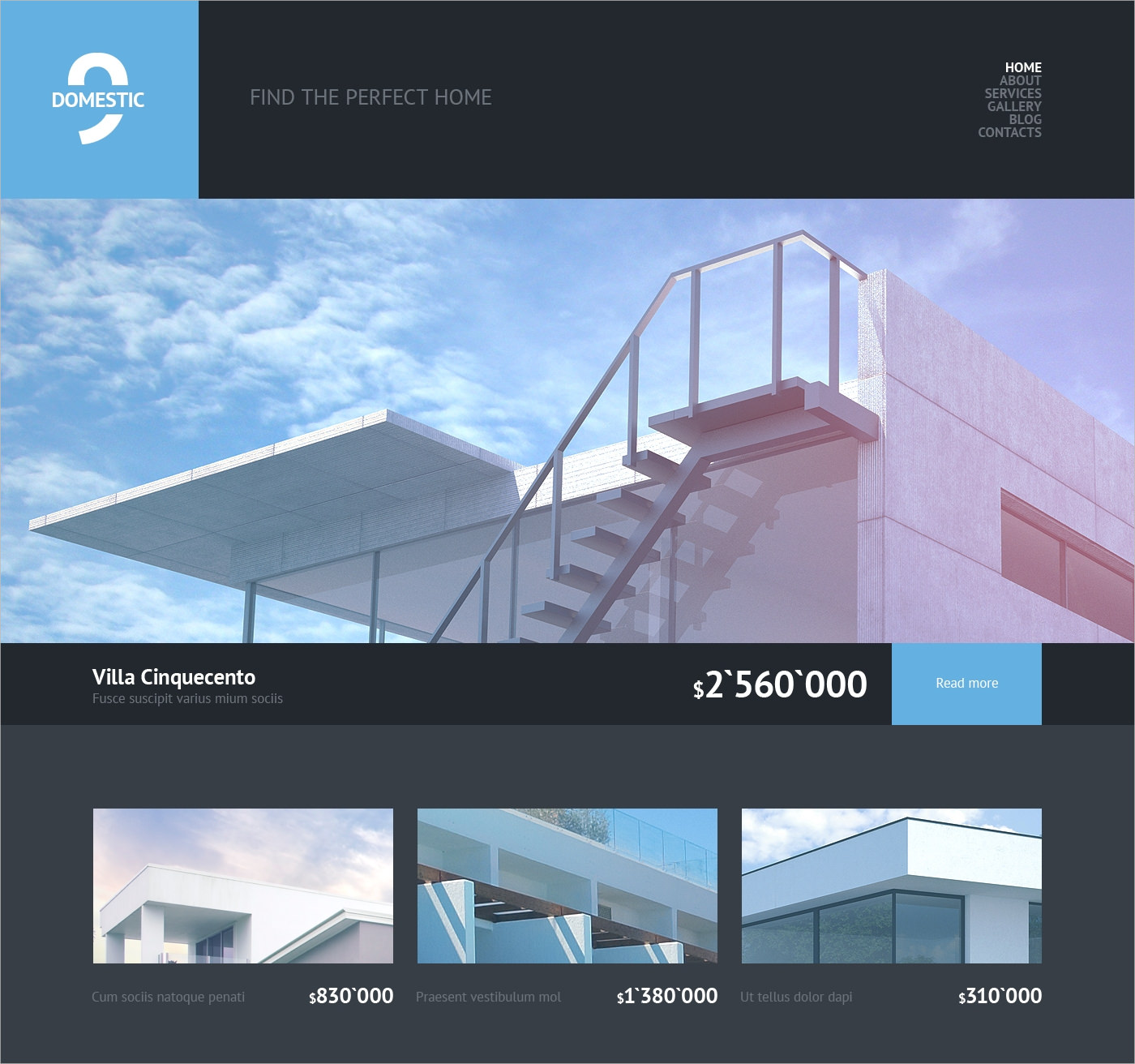 wordpress theme for real estate business