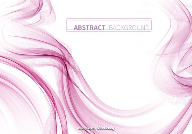 Pink Smoke Abstract Vector