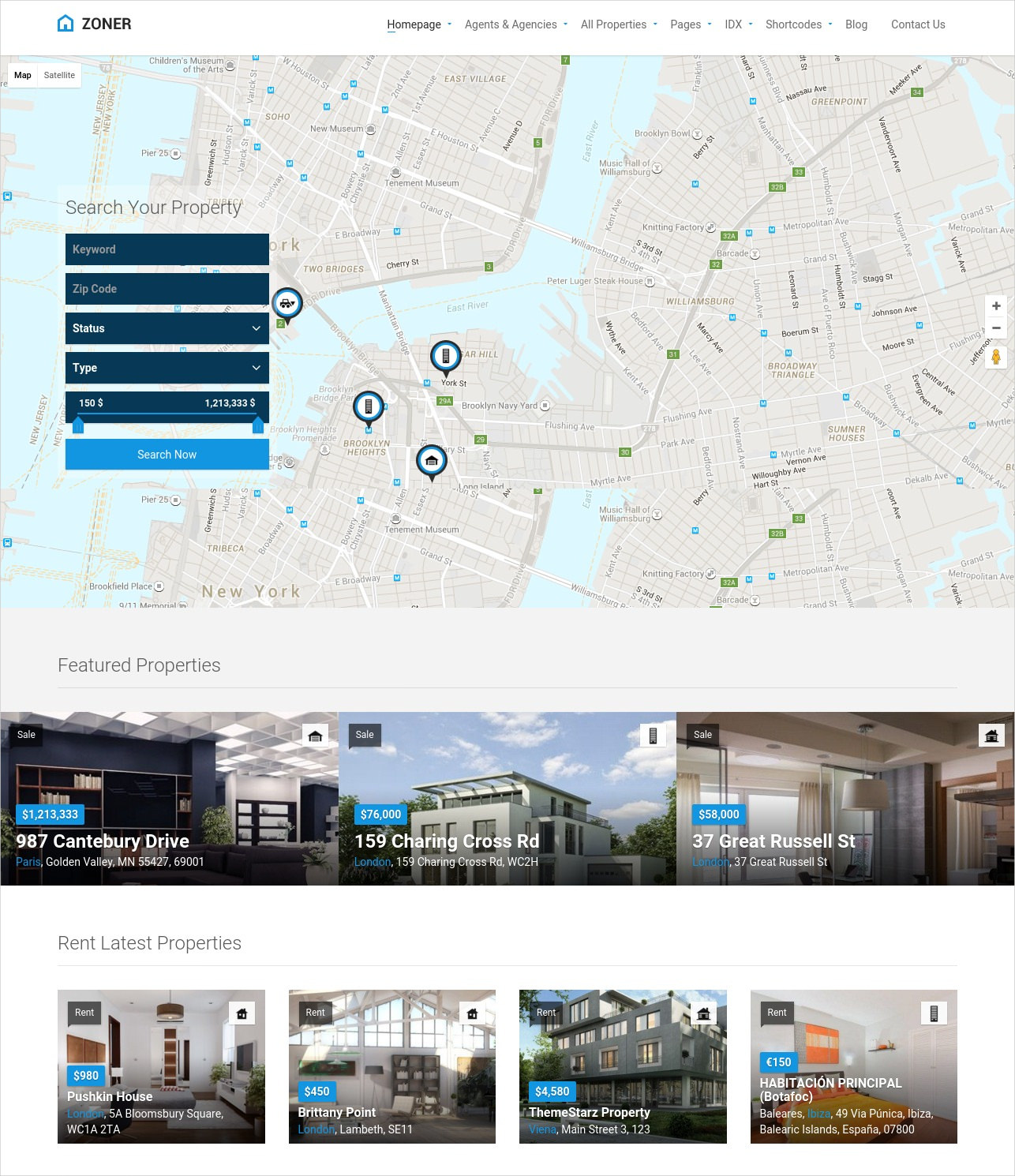 real estate wordpress responsive theme1