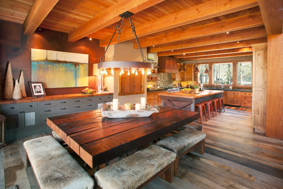 rustic dining room wooden case