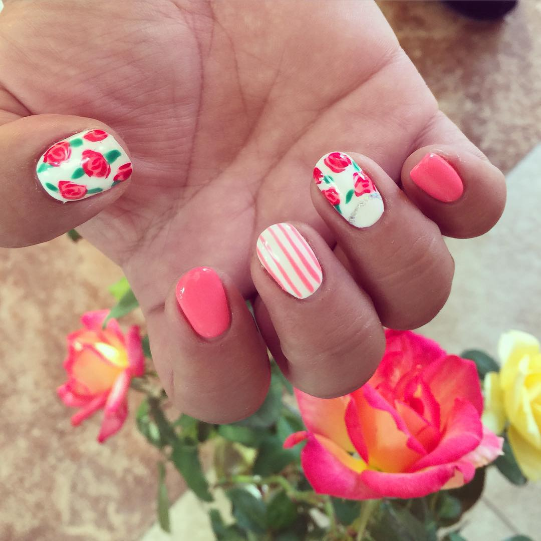 Gopd Looking Rose Nail Design