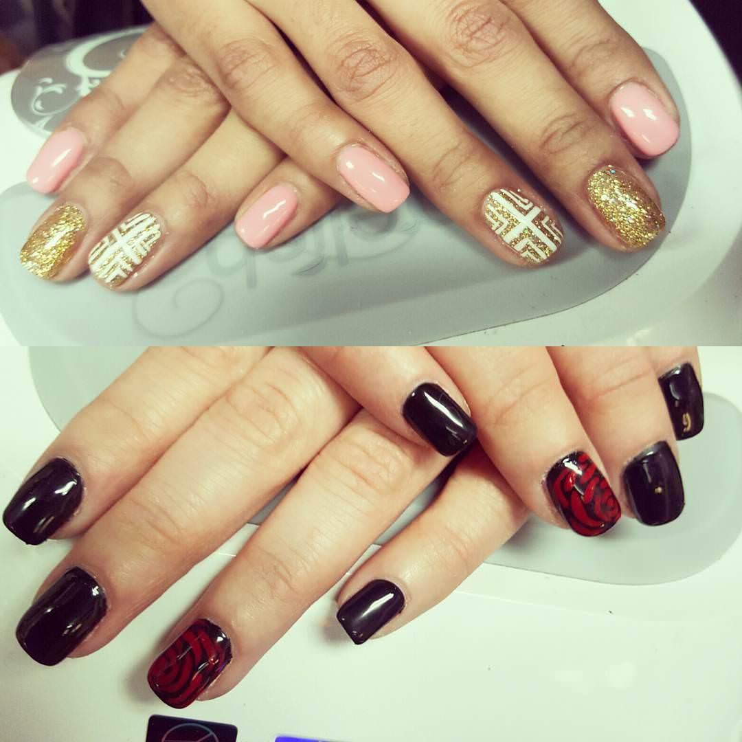 classy rose nail design