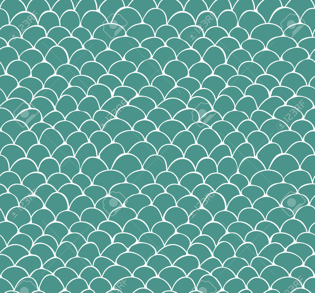 hand drawn fish scale pattern
