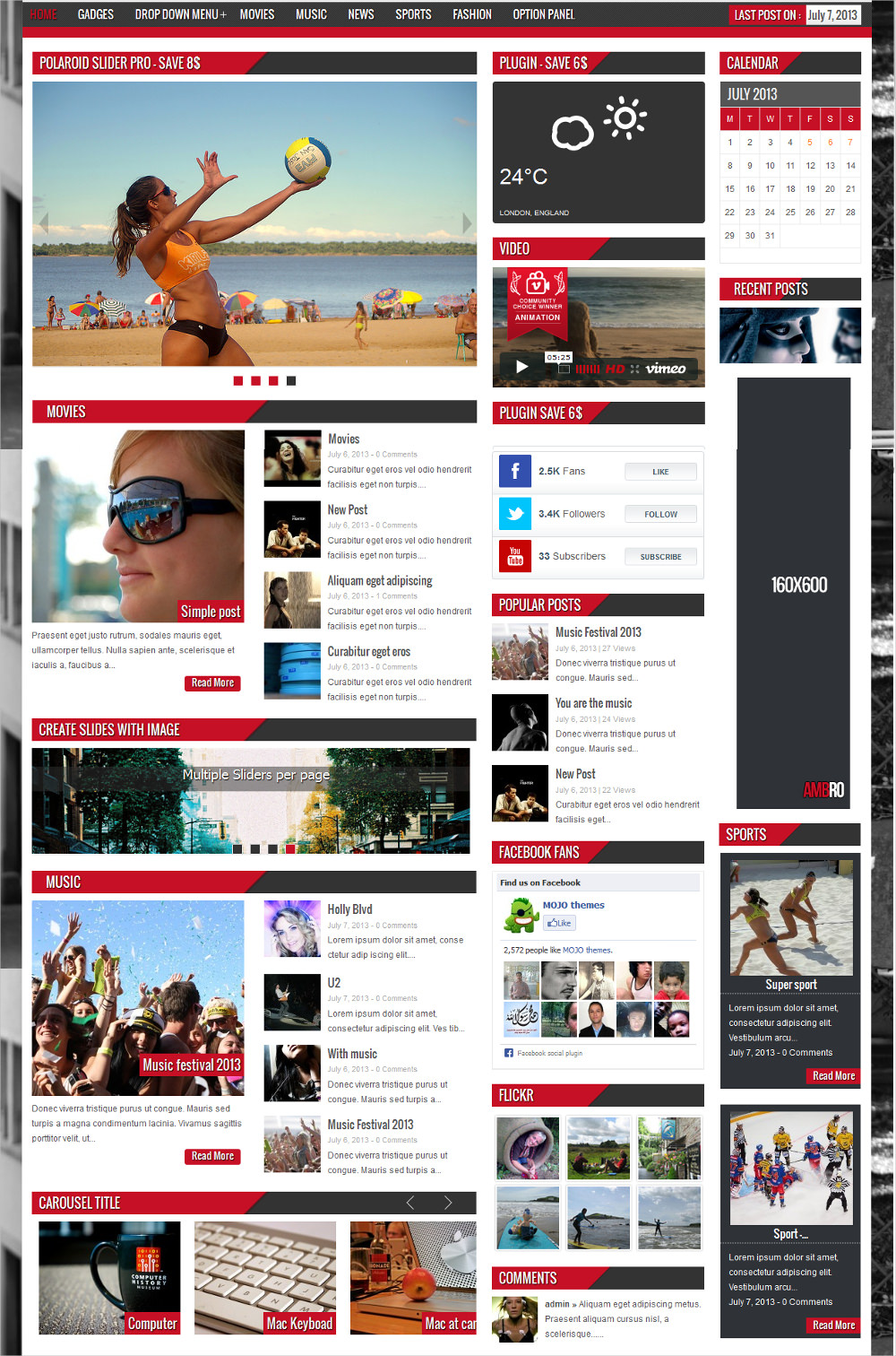 Ambro Magazine WordPress Theme - $49