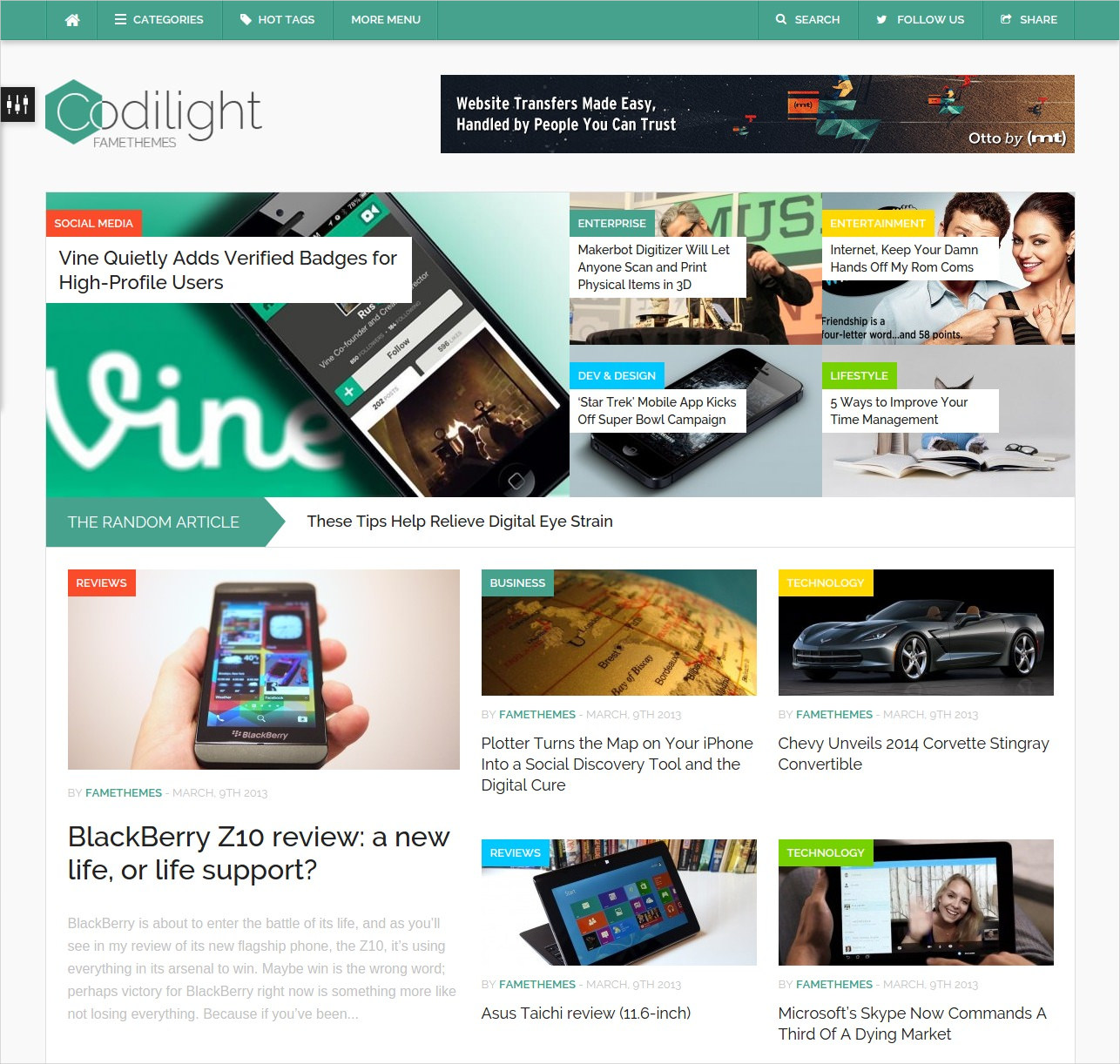 Beautiful WordPress Magazine Theme - $49