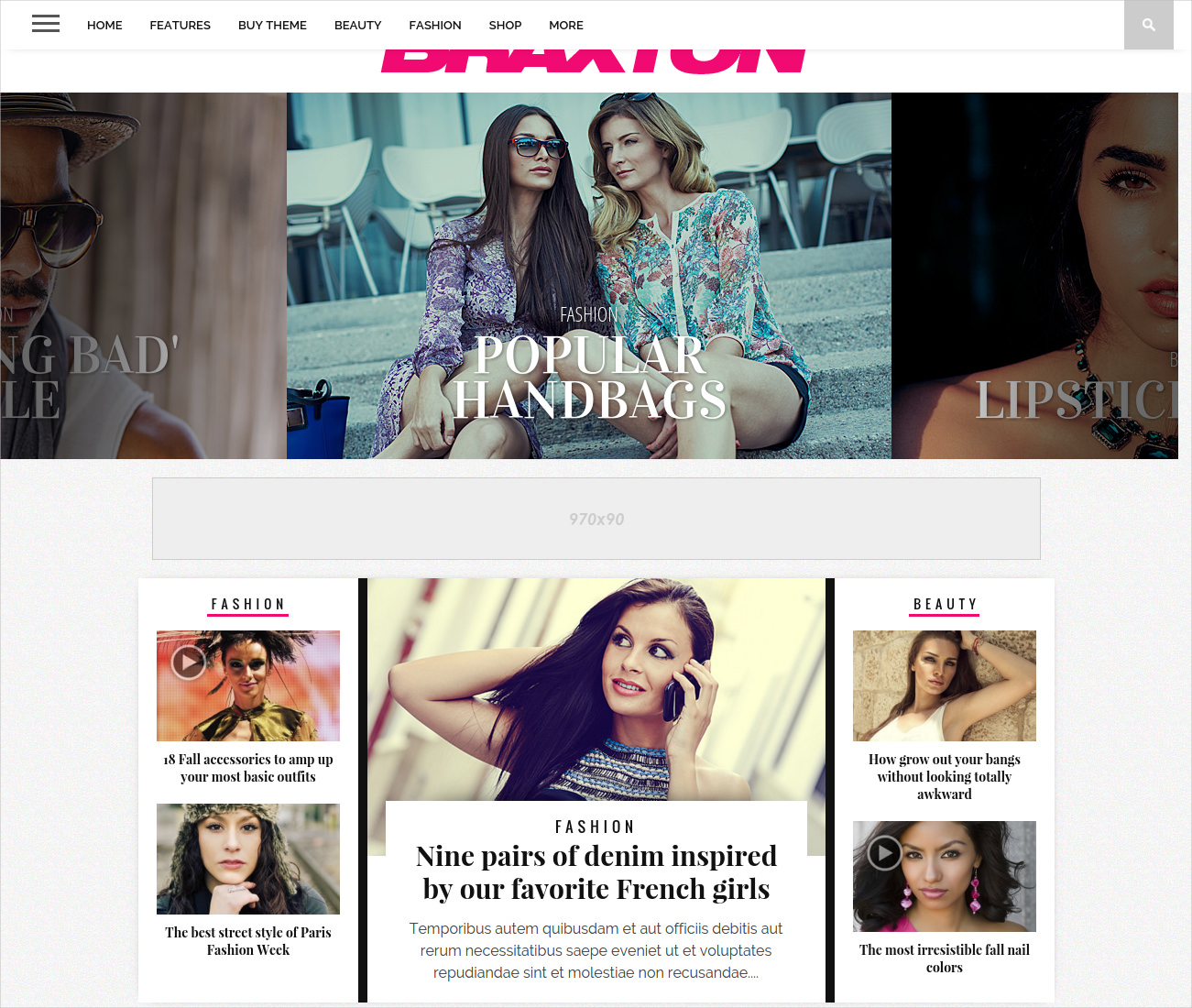 Big Fashion Magazine WordPress Theme