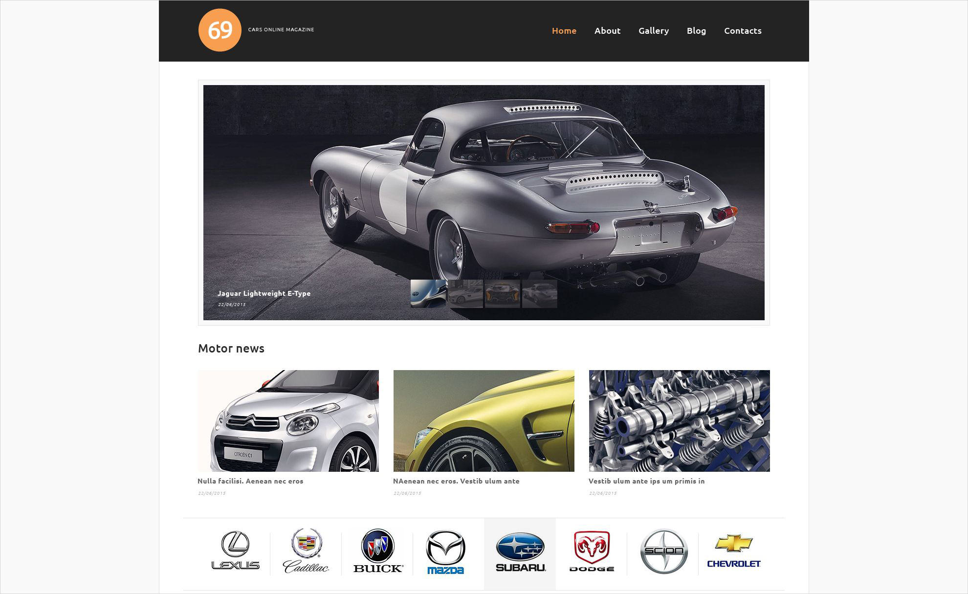 Car Magazine WordPress Theme
