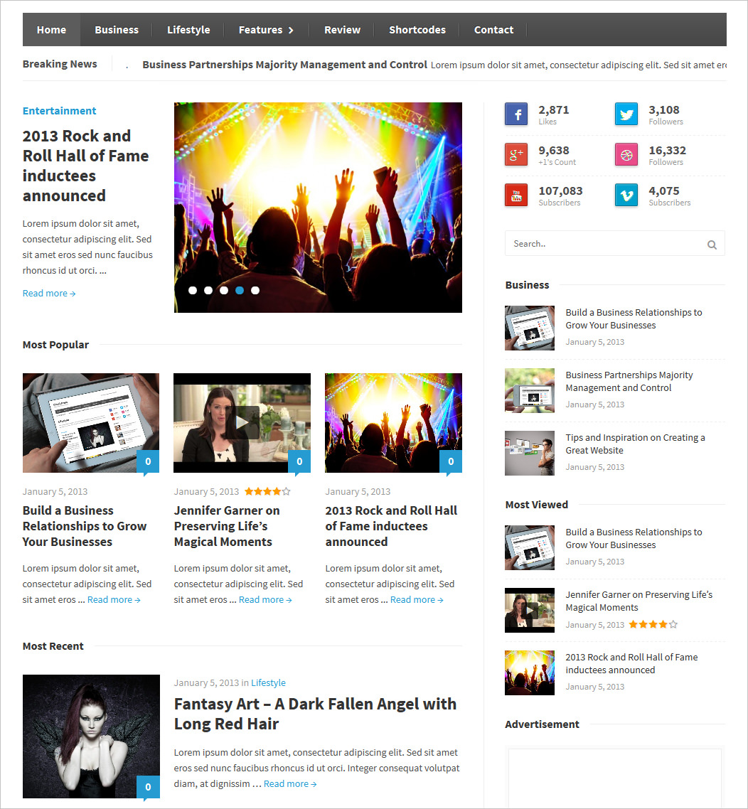 Classic Press Magazine WP Theme