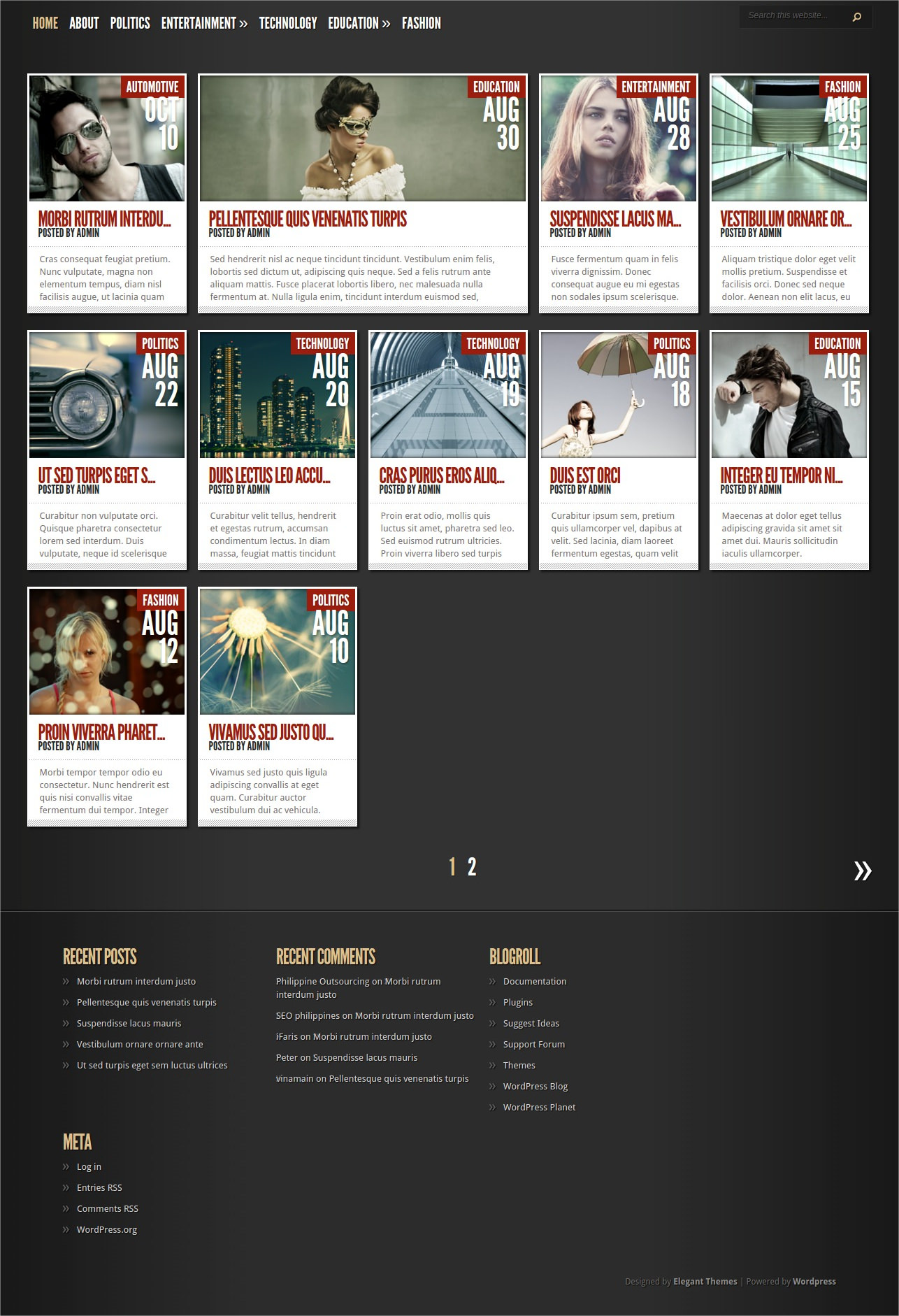 Classic WordPress Magazine Theme