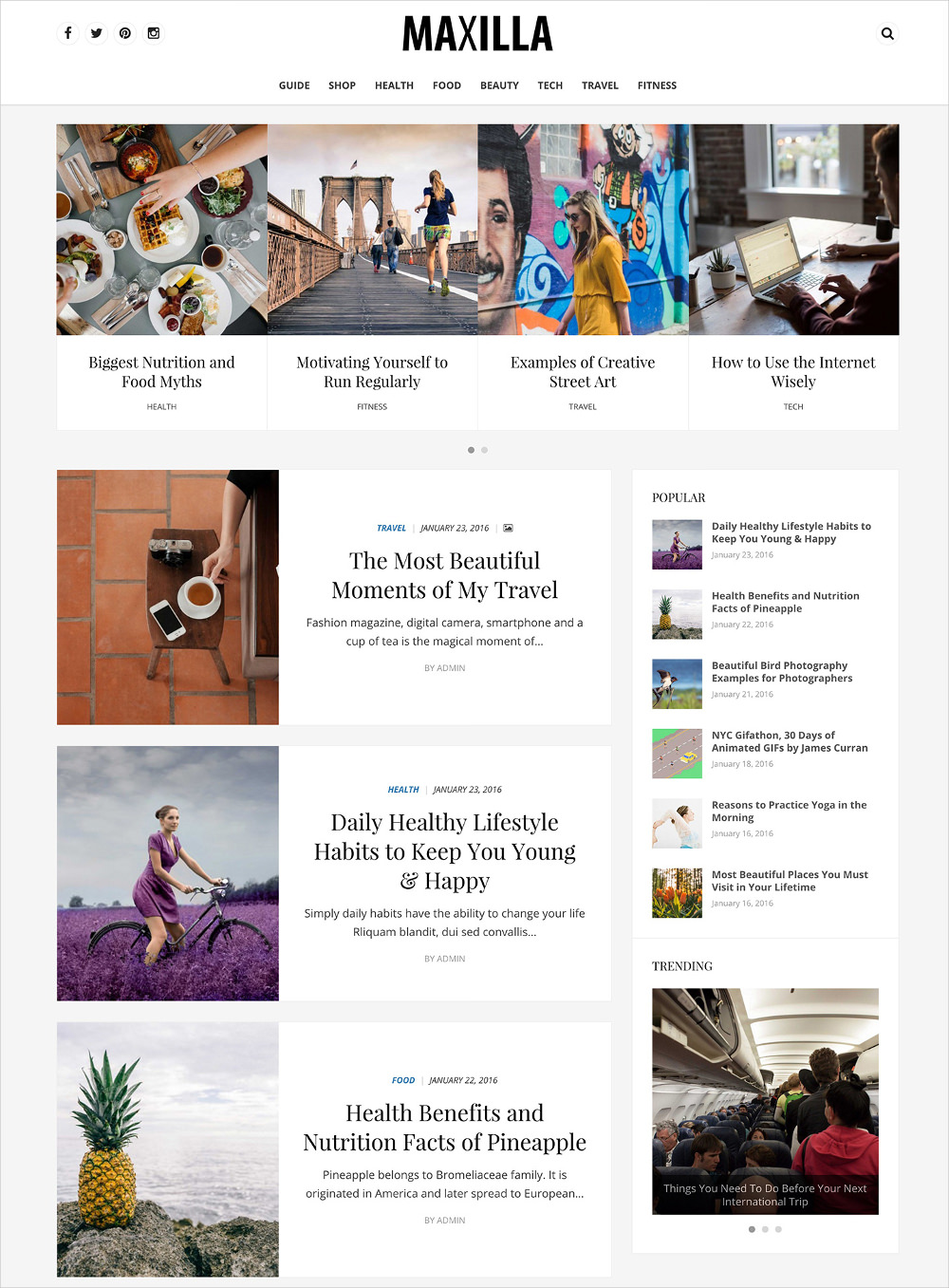 Elegant WordPress Theme for Magazine