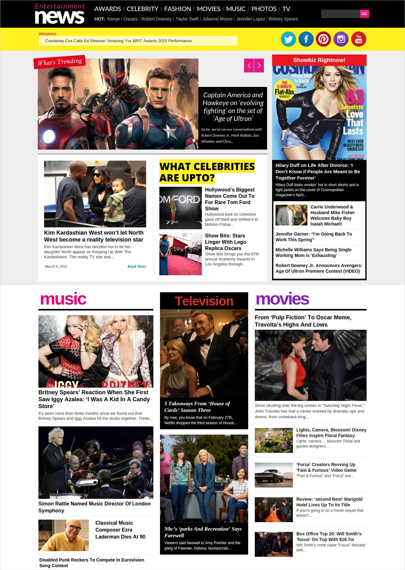 Entertainment Magazine WordPress Theme