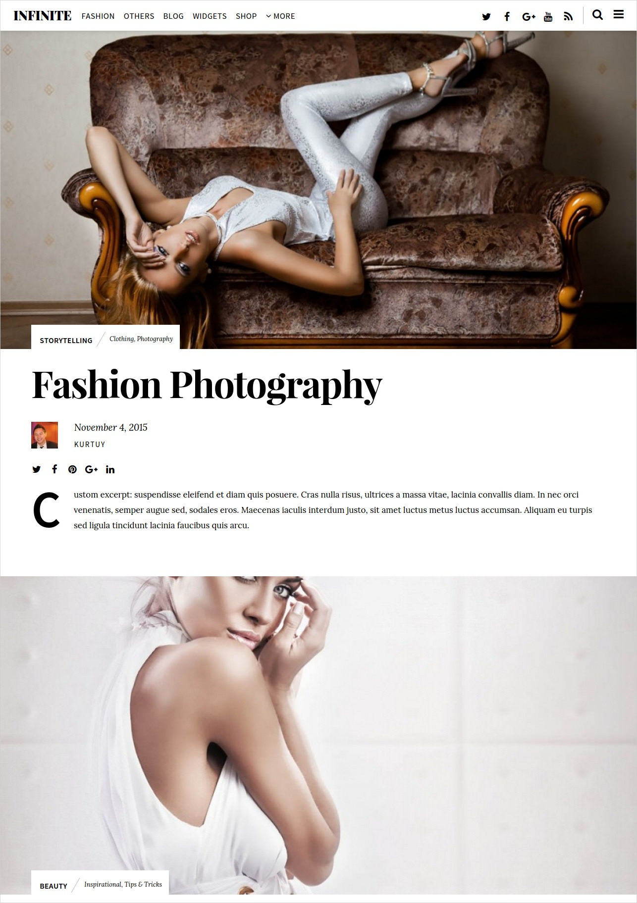 Fashion Photography Magazine WordPress Theme