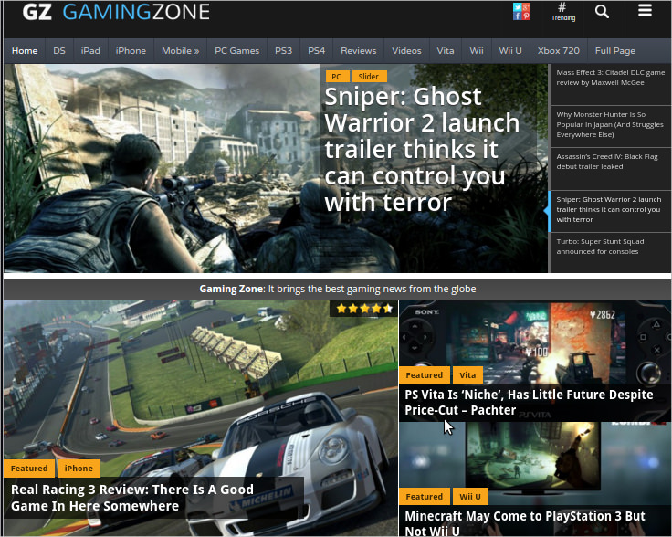 Gamingzone Magazine Theme - $59