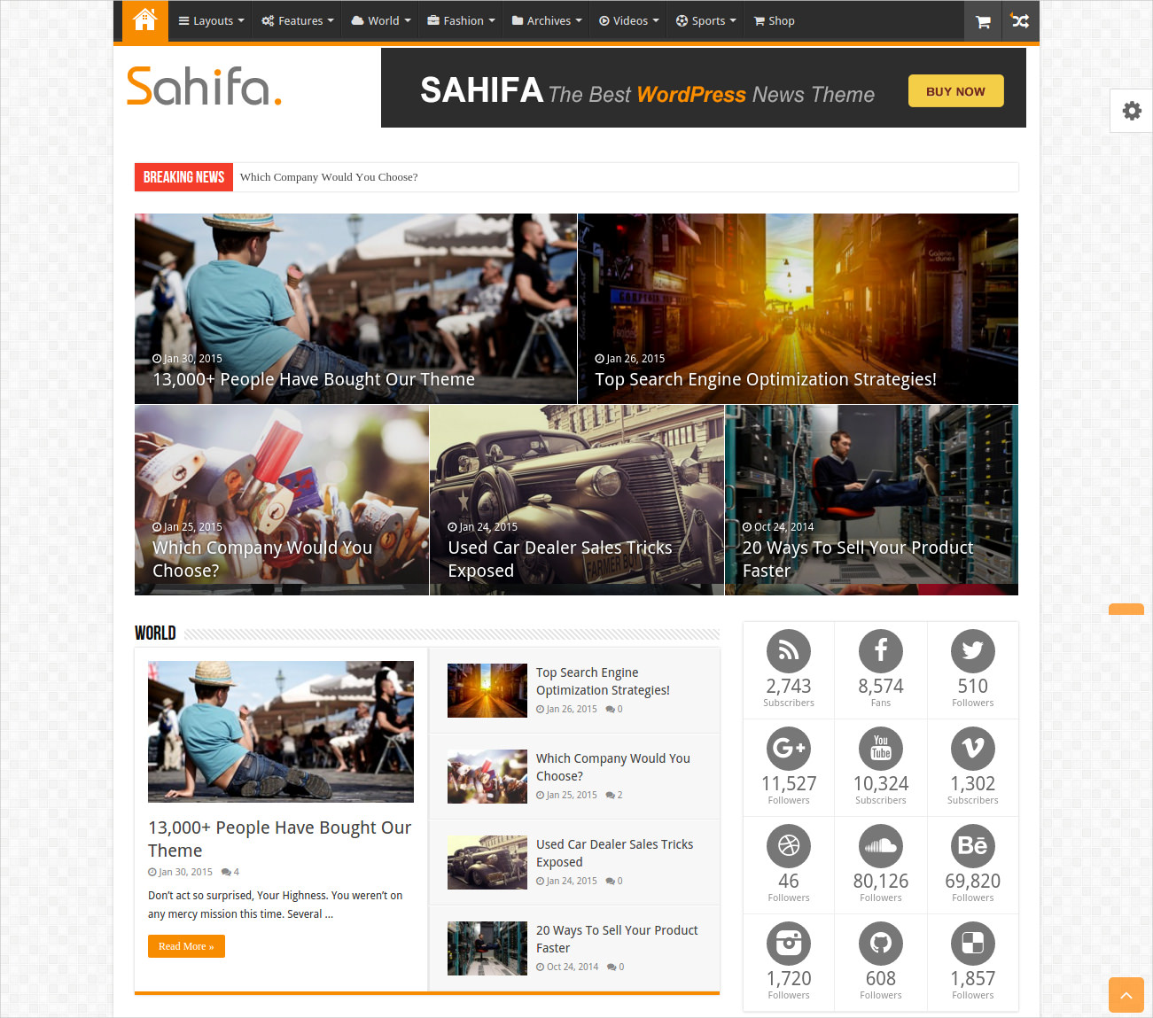 Impressive WordPress Magazine Theme