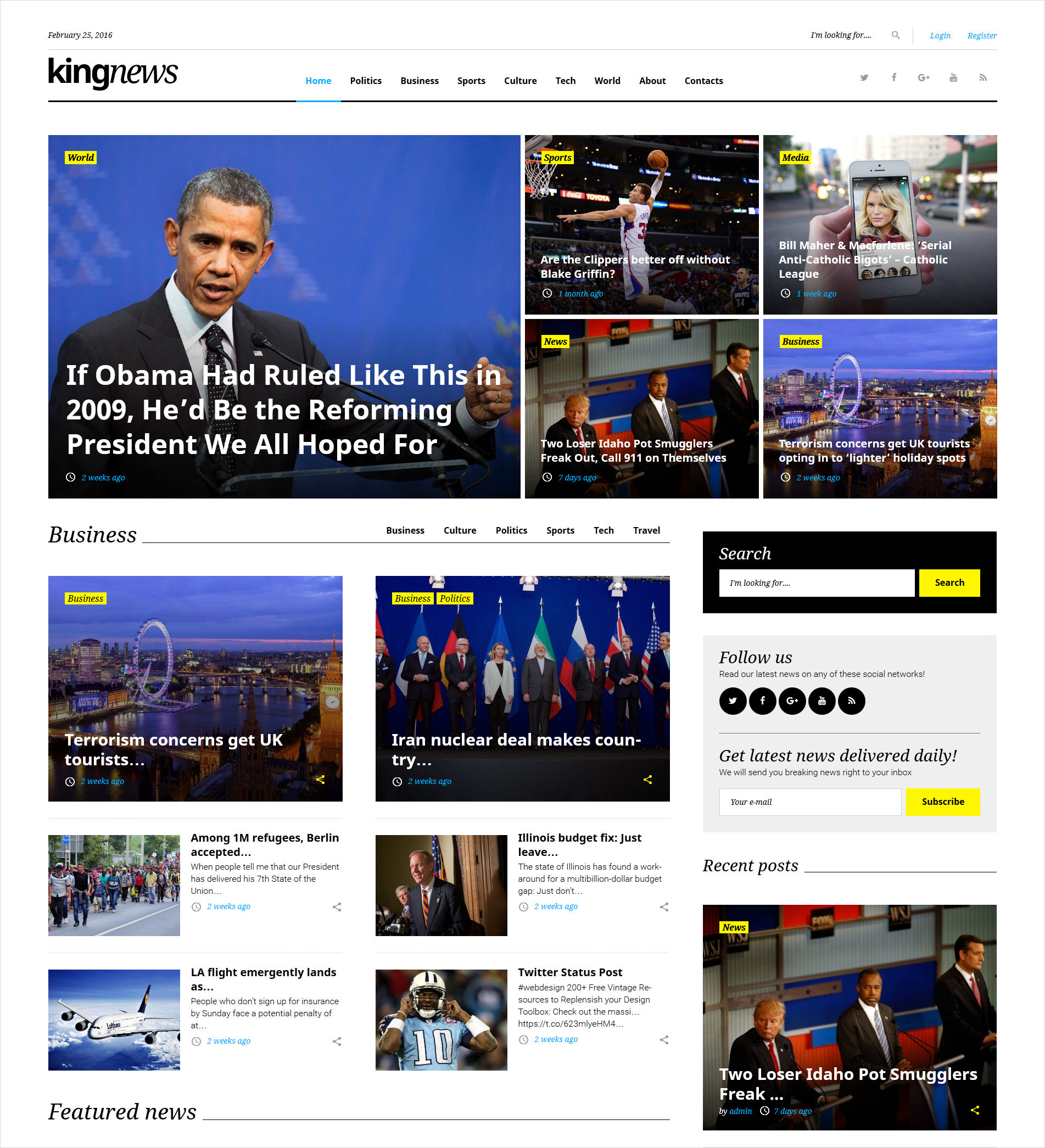 Magazine Newspaper and Blog WordPress Theme