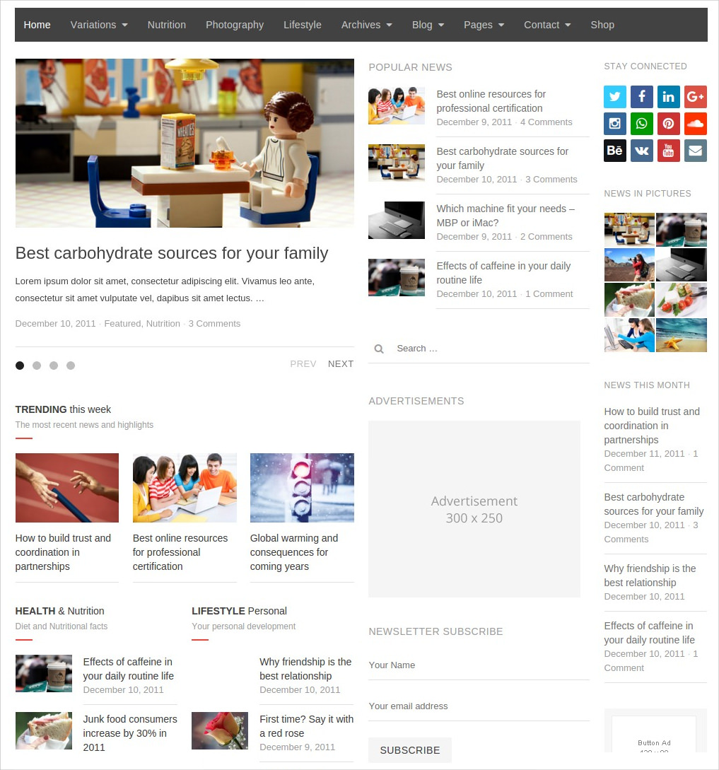 News & Editorial Magazine WordPress Theme - $17