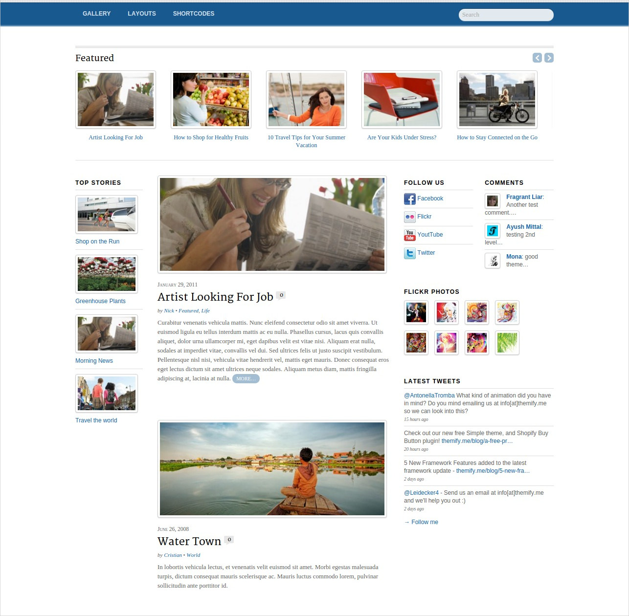 News Editorial WordPress Theme