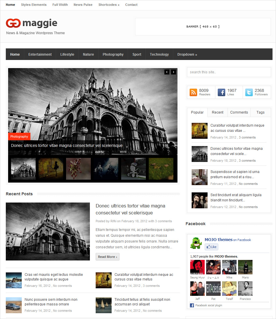 News & Magazine WordPress Theme