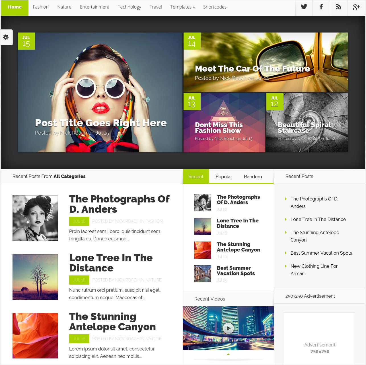 Nexus Magazine WordPress Theme