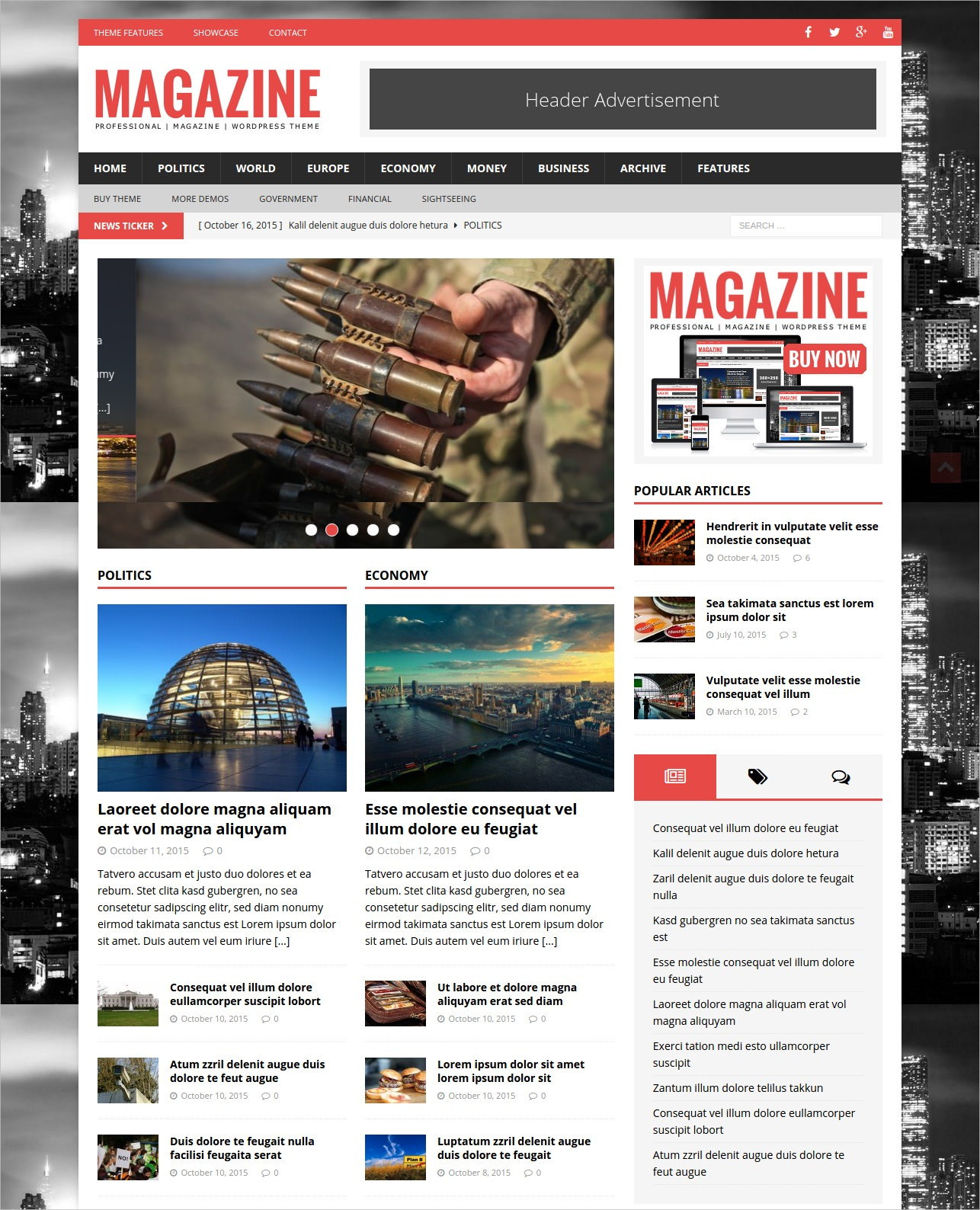 Professional Magazine WordPress Theme