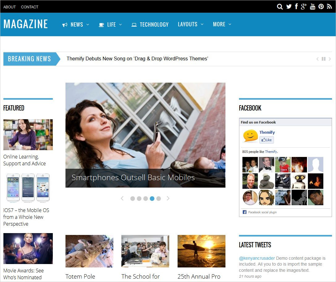 Stylish WordPress Magazine Theme