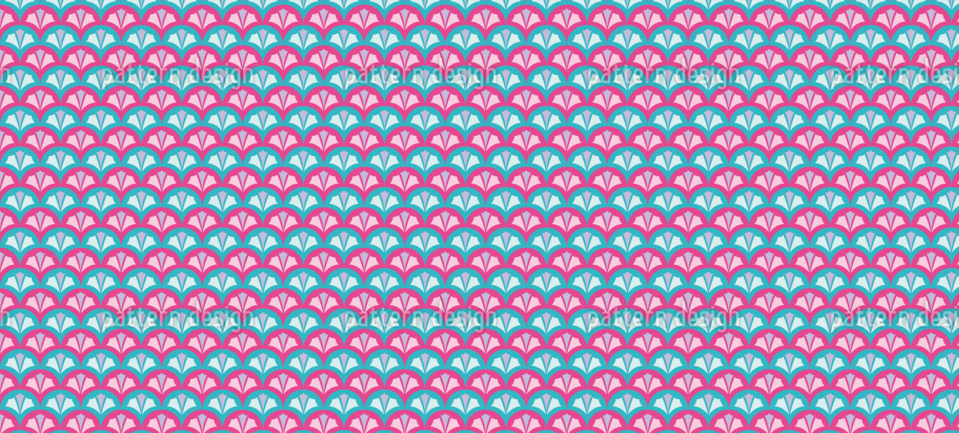 Geometric Fish Scale Pattern
