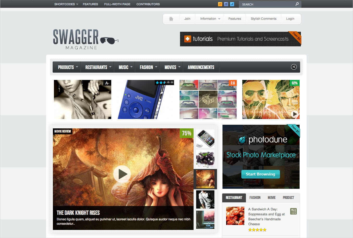 Magazine WordPress Theme - $54
