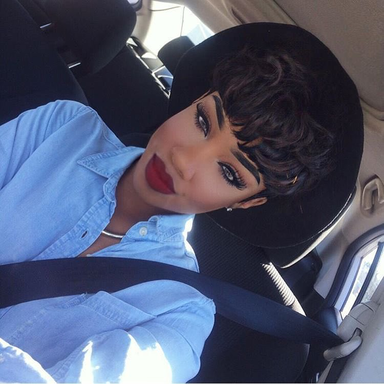 Black Trendy Short Hairstyle