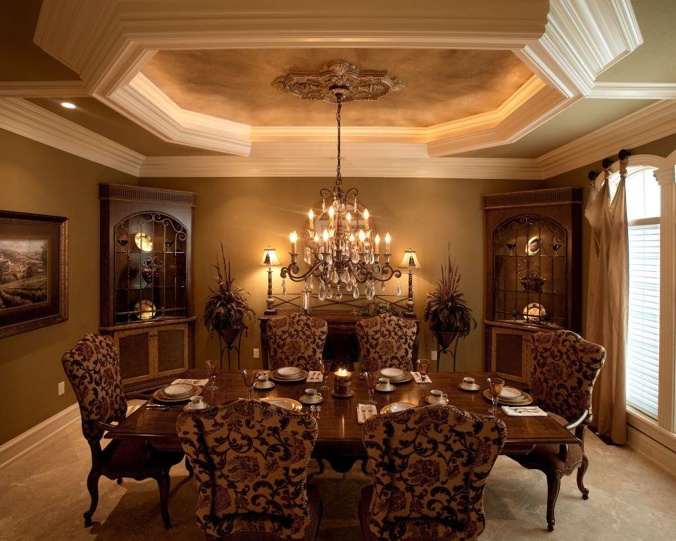 Luxury Dining Room Designs Red Elegant