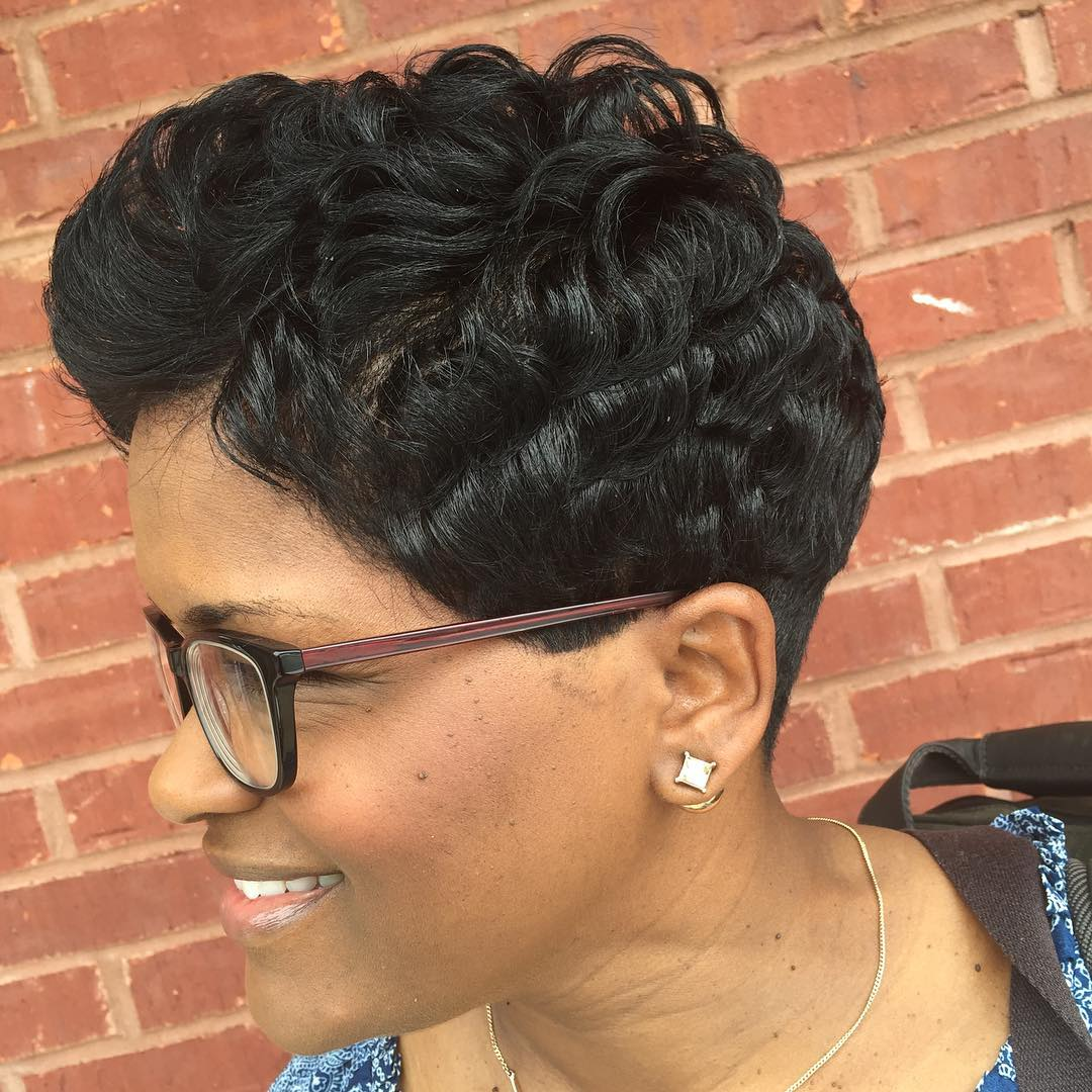 Short Attractive Black Hairstyle