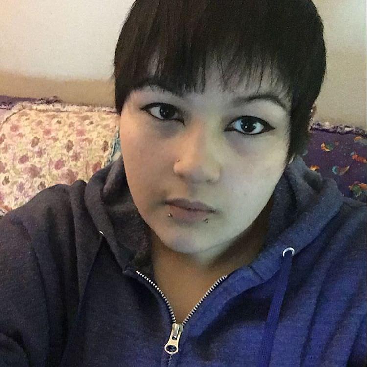 black short bangs hairstyle