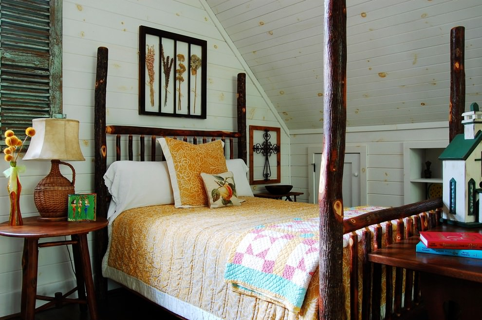Rustic Wooden Kids Bed