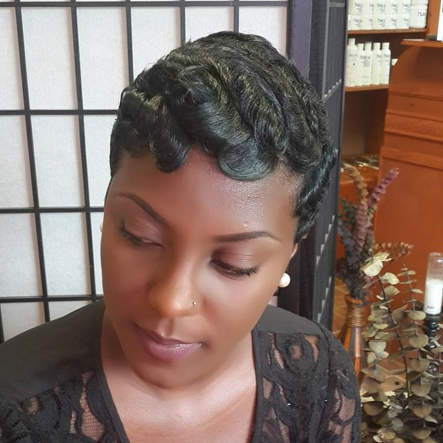 short simple black hairstyle