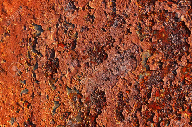 Bright Colored Rusty Surface
