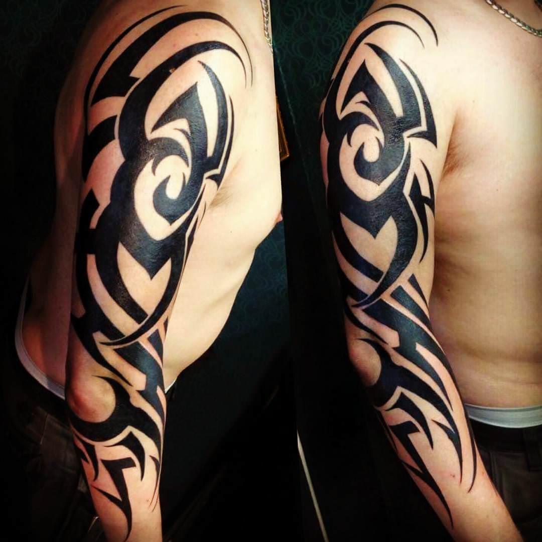 Dark Black Designed Tattoo