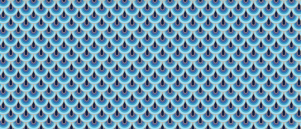 Retro Fish Scale Patterns