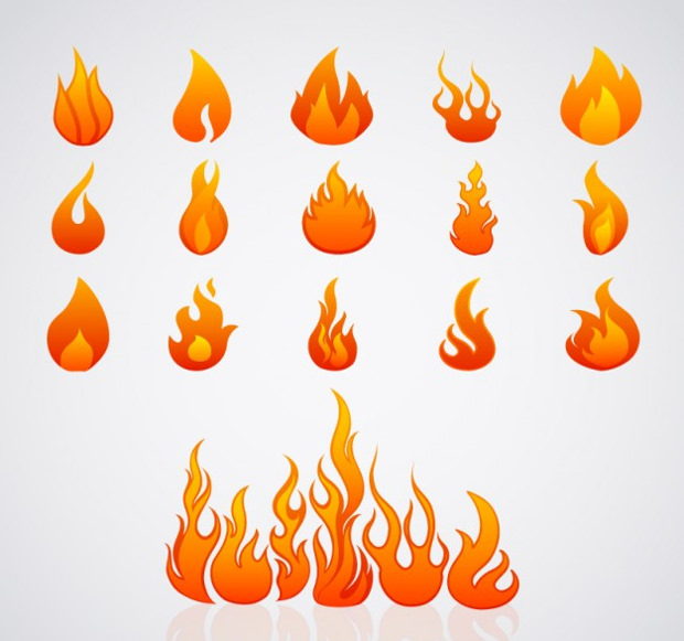 illustration of flame image