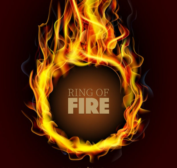ring on fire vector art