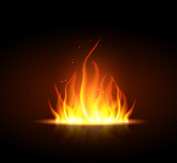 Bright Fire Graphic Vector