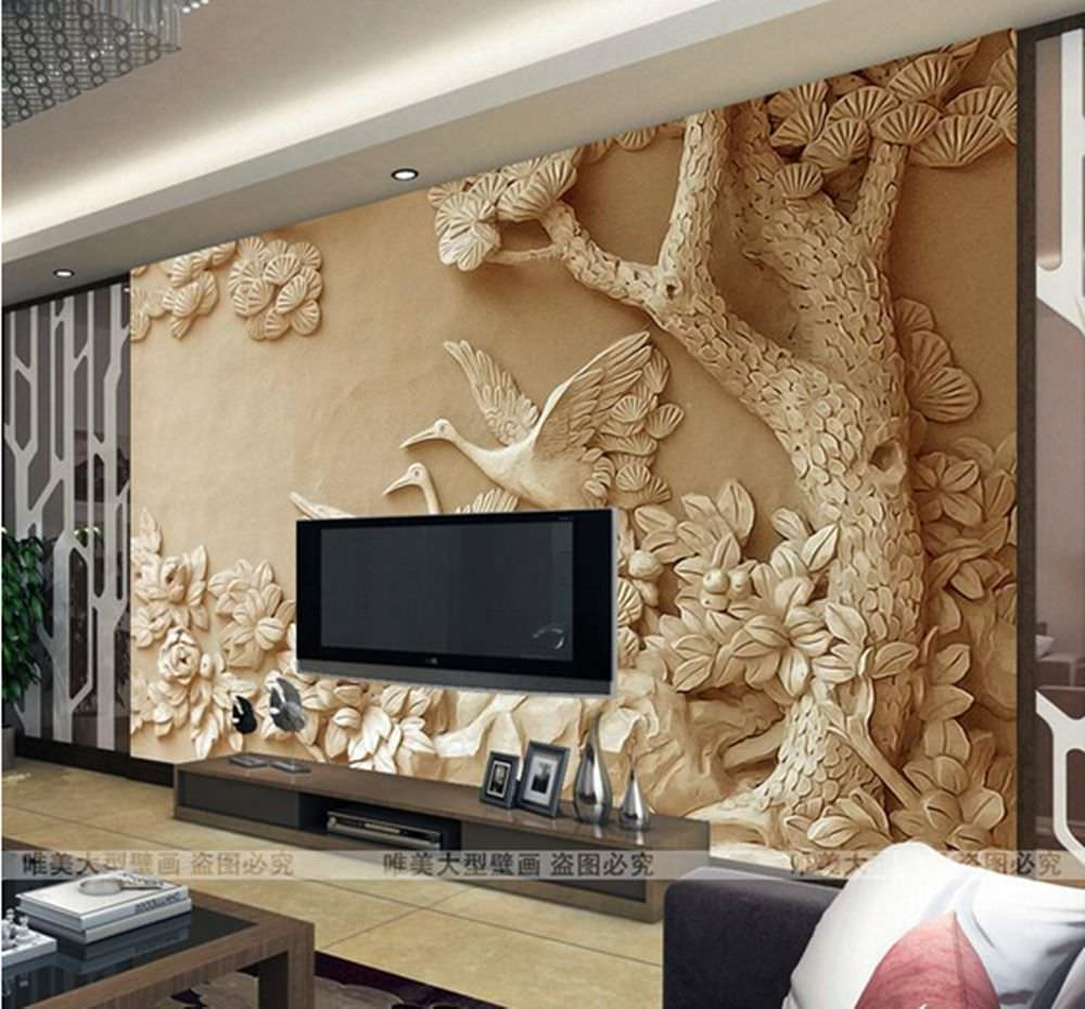 25 cool 3d wall designs decor ideas design trends for Designer mural wallpaper