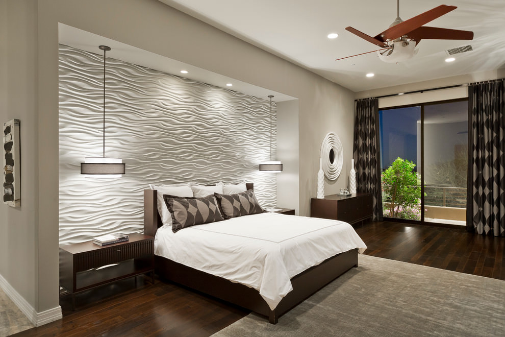 cool 3d wall design - 3d Design Bedroom
