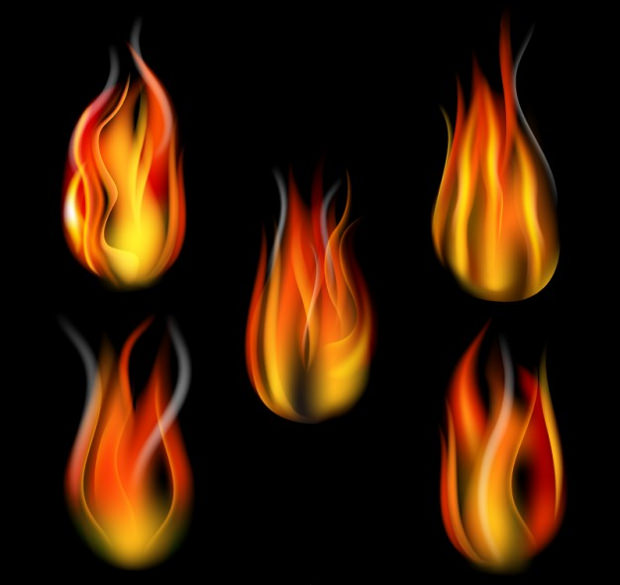 fire flame vector collection
