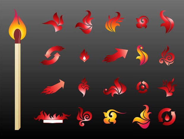 vector fire logo designs
